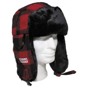 ШАПКА BLACK/RED 10033I FOX OUTDOOR CANADIAN