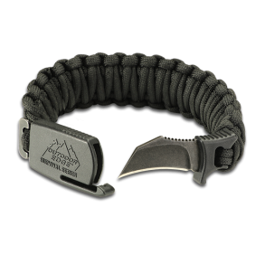 Paracord Bracelet Tactical Knife Para Claw Black Outdoor Edge