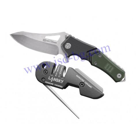 Нож и точило комплект Responder Combo Lansky