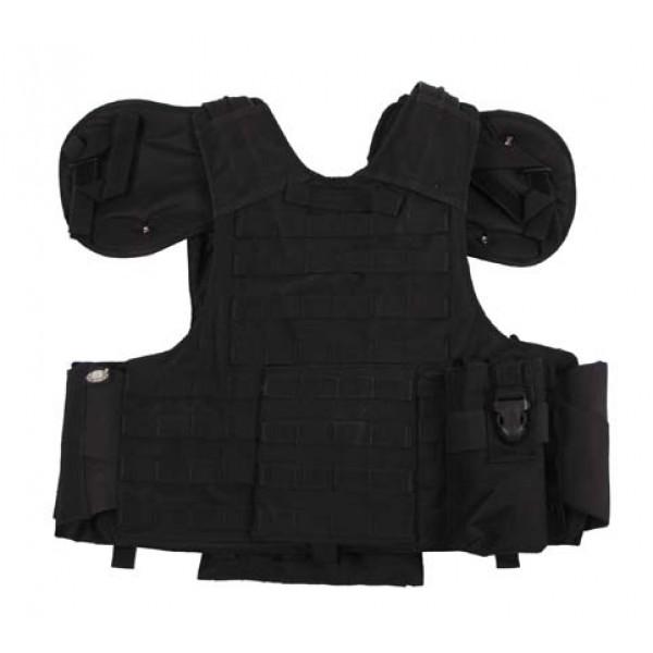 Модулна тактическа жилетка Combat черна MFH