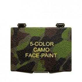 Пет цветна боя за лице с огледало Mil-Com