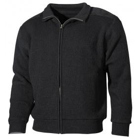 Двулицева жилетка 05701A Fleece-Knitwear Black MFH