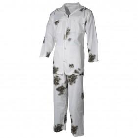 Комплект яке с качулка и панталон 07610 Snow Camo MFH