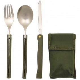 Комплект сгъваеми прибори за хранене Camping OD 33573 MFH