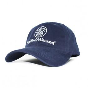 Шапка - синя с лого Smith&Wesson