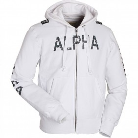 Суичър Alpha Industries White