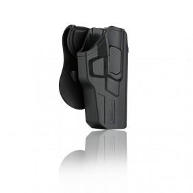 Полимерен кобур за лява ръка за пистолет Glock 17/22/33 с лопатка CY-G17G3L Cytac