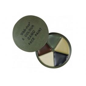 Камуфлажни бои за лице с огледало Web-Tex Multi Terrain Face Paint