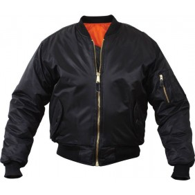 Бомбер Mil-Com MA1 Flight Jacket Black