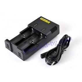 Универсално зарядно I2 Intellicharger за 2 акумулаторни батерии NITECORE