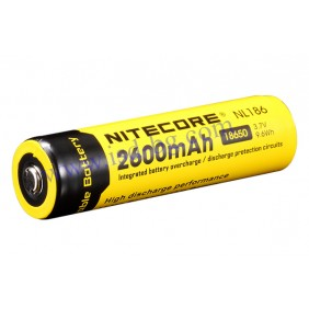 Литиево-йонна тип 18650 акумулаторна батерия 3.7V 2600mAh NL186 NITECORE