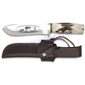 Ловен нож 31911 с гравирано острие Steel 440