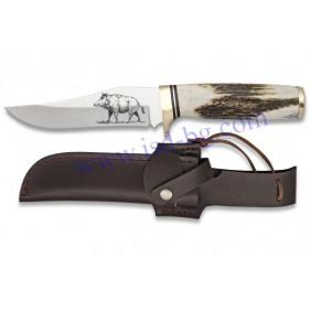 Ловен нож 31913 с гравирано острие Steel 440