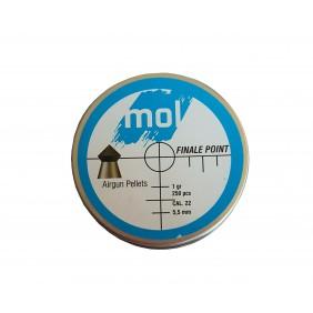 Сачми MOL 5.5mm Finale Point 250бр 1gr метална кутия