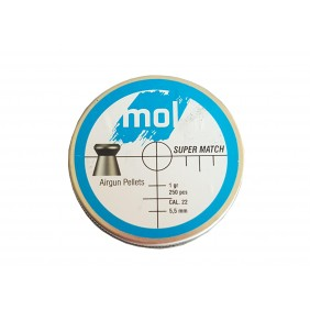 Сачми MOL 5.5mm Super Match 250бр. 1gr метална кутия