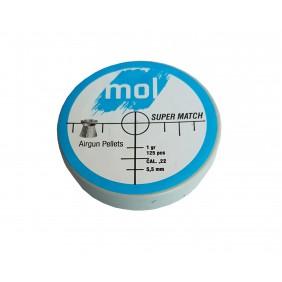 Сачми MOL 5.5mm Super Match 125бр. 1gr пластмасова кутия