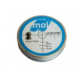 Сачми MOL 5.5mm Ultra Dome 250бр. 1gr метална кутия