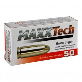 Патрони 9x19 Luger FMJ brass MaxxTech