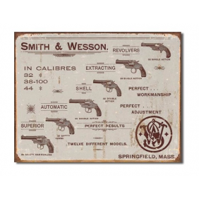 Метален постер Smith&Wesson Revolvers