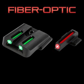 Комплект мерник и мушка TRUGLO Fiber-Optic TG131G2 Glock Hight Set