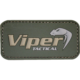 Гумена 3D нашивка Viper Logo Rubber Patches Green