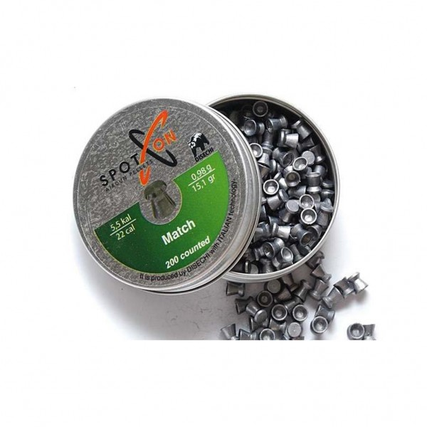 Pellets Spoton 5.5mm Match 0.98g 200pcs