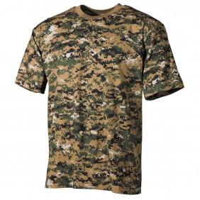 T-Shirt US 00104C Digital Woodland MFH