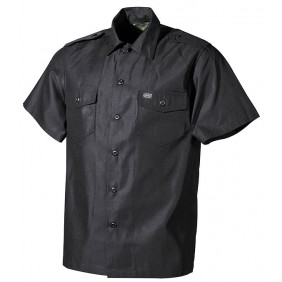Black shirt with short sleeves 02712А