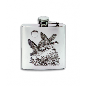 Steel canteen with geese decoration 170ml
