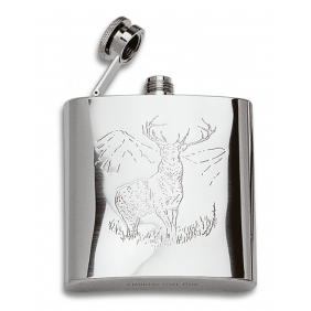 Steel canteen with deer decoration 170ml