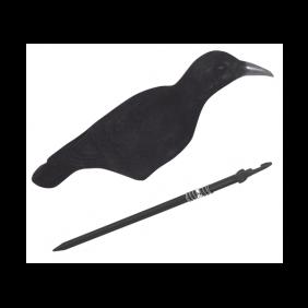 Flocked Crow Shell Decoy JACK PYKE