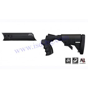 Six position stock kit with pistol grip and forend for Mossberg