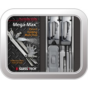 Mega-Max™ Folding Multi-Tool Platinum Swiss+Tech