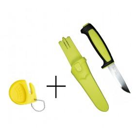 Knife MORAKNIV 12975 BASIC 511 and sharp Lansky LSPED